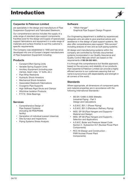 Introduction - Carpenter & Paterson Ltd