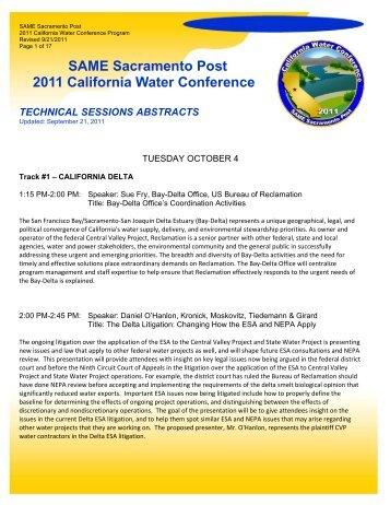SAME Sacramento Post 2011 California Water Conference