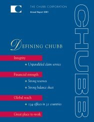 Annual Report 2001 - Chubb Group of Insurance Companies