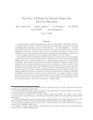 The Price of Stability for Network Design with ... - Cornell University