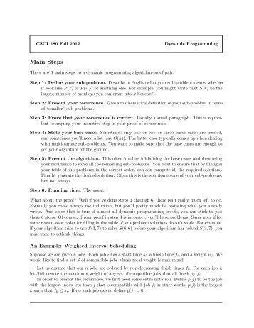 Dynamic Programming Proofs