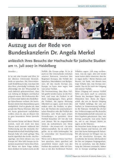 Mussaf 02/07 - Hochschule für Jüdische Studien Heidelberg