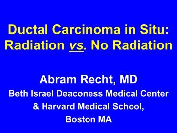 Radiation vs. No Radiation - Dana-Farber/Harvard Cancer Center