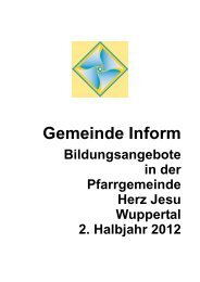 Gemeinde Inform - Herz Jesu Wuppertal
