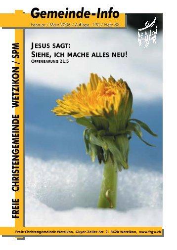 JESUS SAGT SIEHE, ICH MACHE ALLES NEU - bei der Freien ...