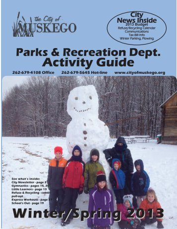 pages 3-5 Program Guide - City of Muskego