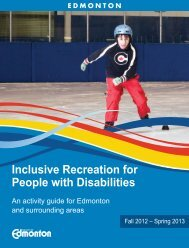 Inclusive Recreation for People with Disabilities ... - City of Edmonton