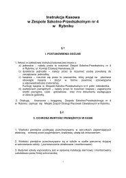 PDF (35 KB) - Zespól Szkolno-Przedszkolny nr 4