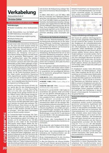 Verkabelung - PCNews