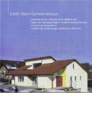 Festschrift zur Einweihung des Gemeindehauses