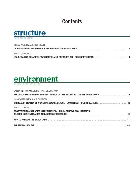 STRUCTURE AND ENVIRONMENT STRUCTURE AND ...