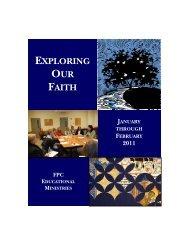 Adult Education Brochure Winter 2011 Jan-Feb.pdf - The First ...