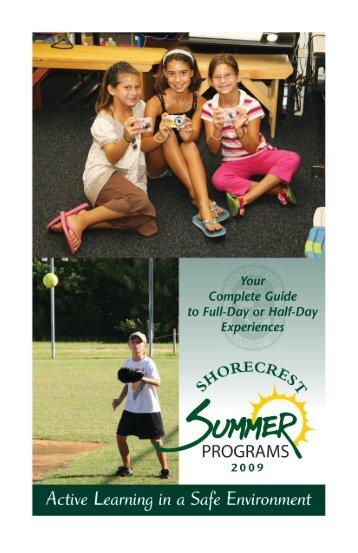 Summer Camp Brochure - E-Bytes - Shorecrest Preparatory School