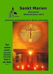 Weihnachts-Pfarrbrief 2012 - Stmarien-fallersleben.de