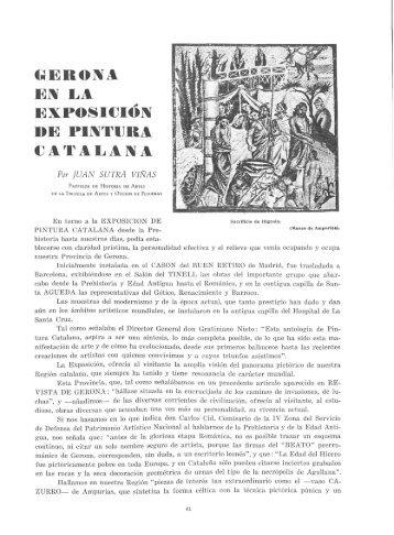 eroiva e]% l·a exposició]^ de pij^tura catalana - Revista de Girona