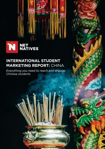 INTERNATIONAL STUDENT MARKETING REPORT: CHINA