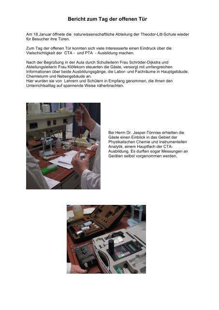 Bericht zum Tag der offenen Tür - Theodor-Litt-Schule