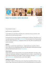 Infomail 5: Koordinierende Mai 2013 - Bike to work