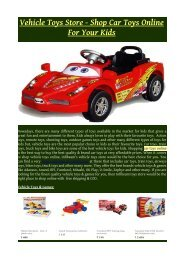 Vehicle Toys Store - Shop Car Toys Online For Your Kids