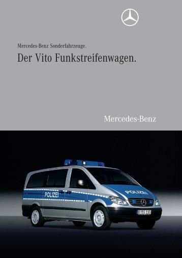 Der Vito Funkstreifenwagen.