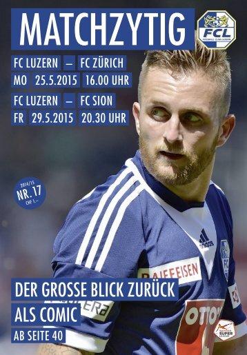 FC LUZERN Matchzytig N°17 14/15 (RSL 35/36)