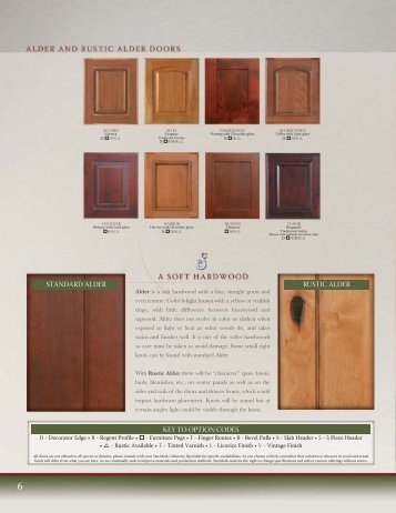 key to option codes rustic alder standard alder - StarMark Cabinetry