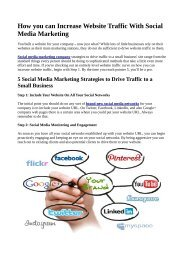 How you can Increase Website Traffic With Social Media Marketing