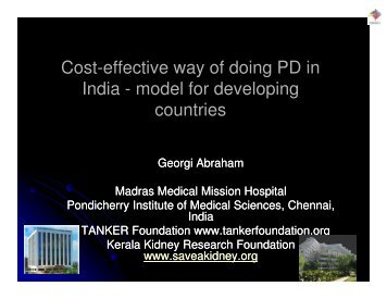 Cost-effective way of doing PD in India - model for developing ...