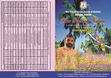 Parish Voice - Ahmadi Mar Thoma Parish