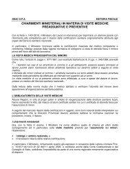 chiarimenti ministeriali in materia di visite mediche preassuntive e ...