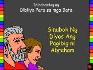 God Tests Abrahams Love Tagalog - Bible for Children