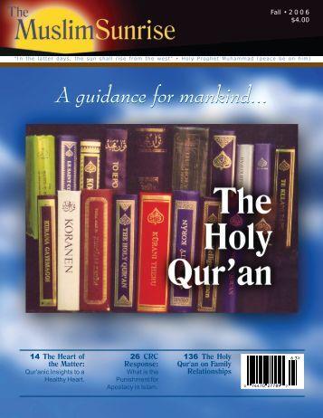 2006, III - The Muslim Sunrise