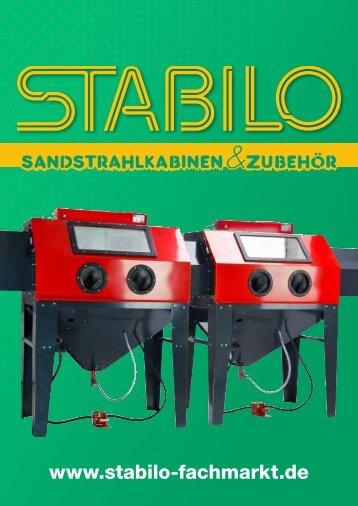 STABILO - Sandstrahlkabinen & Zubehör - Katalog 2015