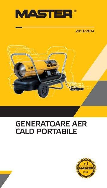 Catalog generatoare aer cald portabile MASTER
