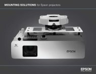 MOUNTING SOLUTIONS for Epson projectors