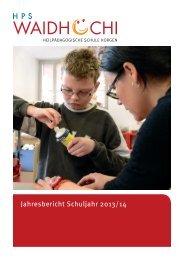 Jahresbericht Waidhoechi 2013