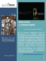 e-AN N° 25 nota N° 5 Entre el arte y el diseño digital por el arq. Carlos Sánchez Saravia