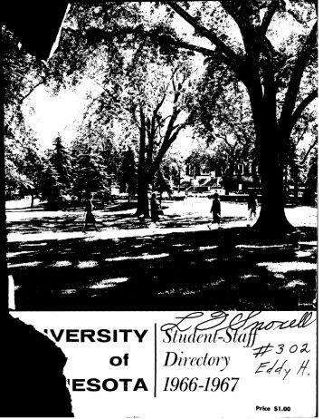 Directory - University of Minnesota Digital Conservancy