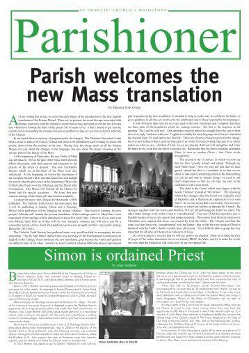 The Parishioner - Edition 20