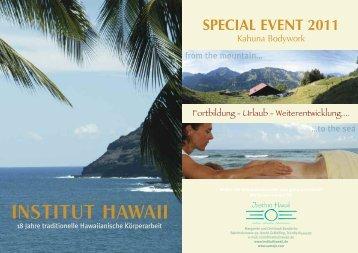 SPECIAL EVENT 2011 - Institut Hawaii