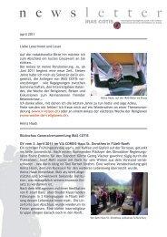Newsletter April 2011 - Iras Cotis