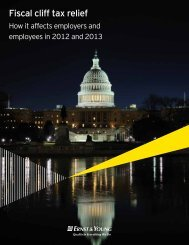 Fiscal cliff tax relief - How it affects employers and ... - Ernst & Young