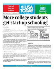More college students get start-up schooling