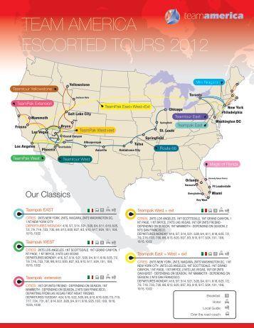 TEAM AMERICA ESCORTED TOURS 2012