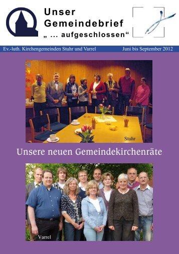 Unser Gemeindebrief - Ev. - luth. Kirchengemeinde Stuhr