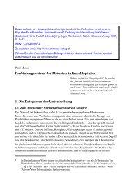1 - Enzyklopädien, Allgemeinwissen und Gesellschaft