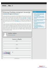 Selayang Pandang mengenai Javascript « Article ... - Blog Bina Darma