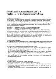 Trinationale Projekte gesucht - Kanton Aargau