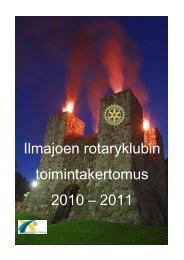 Ilmajoen rotaryklubin toimintakertomus 2010 – 2011 - Kotisivut.com