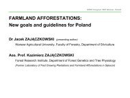 FARMLAND AFFORESTATIONS - Forests and Forestry in the ...